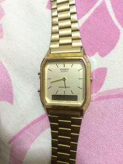 Jam tangan casio gold
