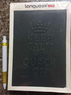 Keep Calm and Quack On Notebook