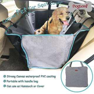 寵物車用掛袋 後排 Canvas Pet Car Seat Cover