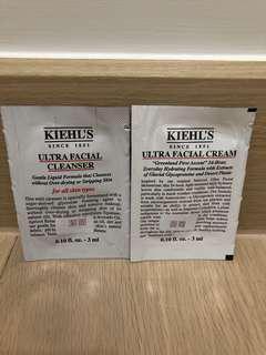 Kiehl's cleanser & facial cream 2pcs