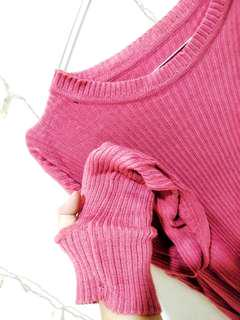 Sweater pink korea lucukkkk
