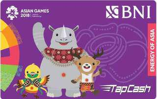 Tapcash edisi maskot asian game bhin bhin, atung, kaka