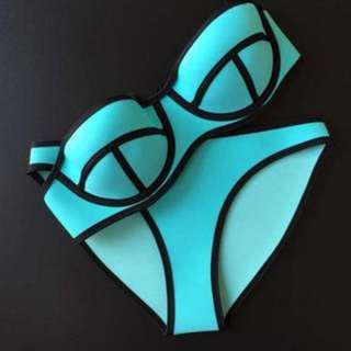 TRIANGL泳衣 triangl bikini (light blue)