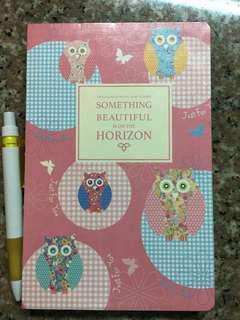 Light Pink Owl Notebook