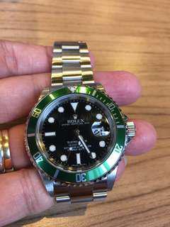 停產綠圏,85%新,Z頭,11格半帶,淨錶一隻