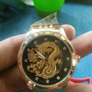 TEVISE MAN WATCH DRAGON GOLD