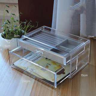 PO-transparent jewelry box jewellery box organizer organiser