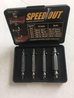 Brand new speedout damage screw extractor speed out drill bit