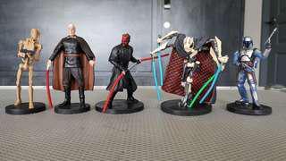 """Star Wars Bad Guys Package PVC Disney 3.75"""" figurine"""