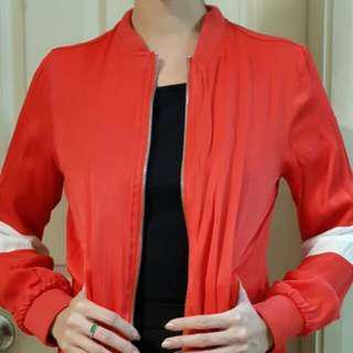 Forever 21 Red Bomber Jacket