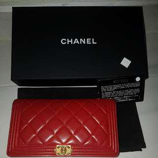 Chanel Boy wallet - Red