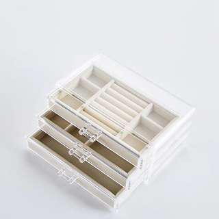 Po-transparent jewelry box jewellery organizer organiser