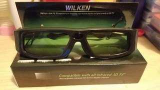 Wilken rechargeable infrared 3D active Shutter glasses