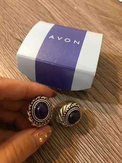 Avon雅芳vintage耳夾