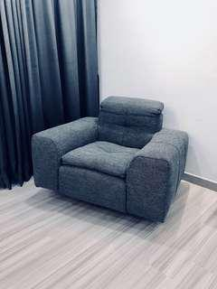 1 Seater Sofa with Adjustable Headrest