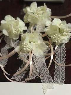 4pcs bridal car doorknob flowers