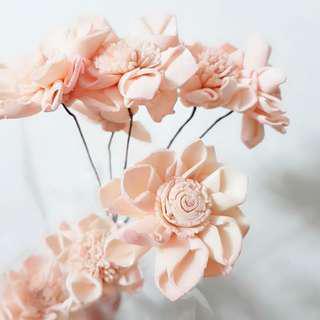 乾燥花 粉色 手工花 花材 材料