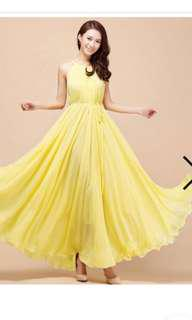 Bridesmaid Dress in Yellow