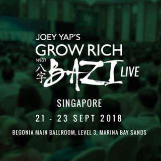 Grow Rich with Bazi LIVE in Singapore Joey Yap