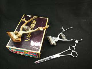 Collection of 3 vintage hair clippers - japan