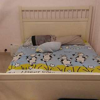 Ikea Hemnes Queen Size Bed with Mattress. High end model