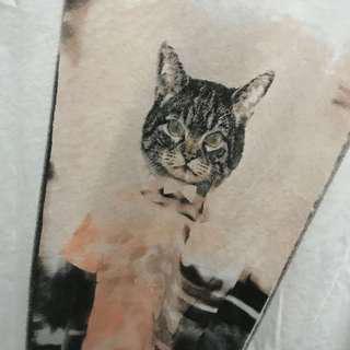 Authentic Esprit Cat Blouse/Tee