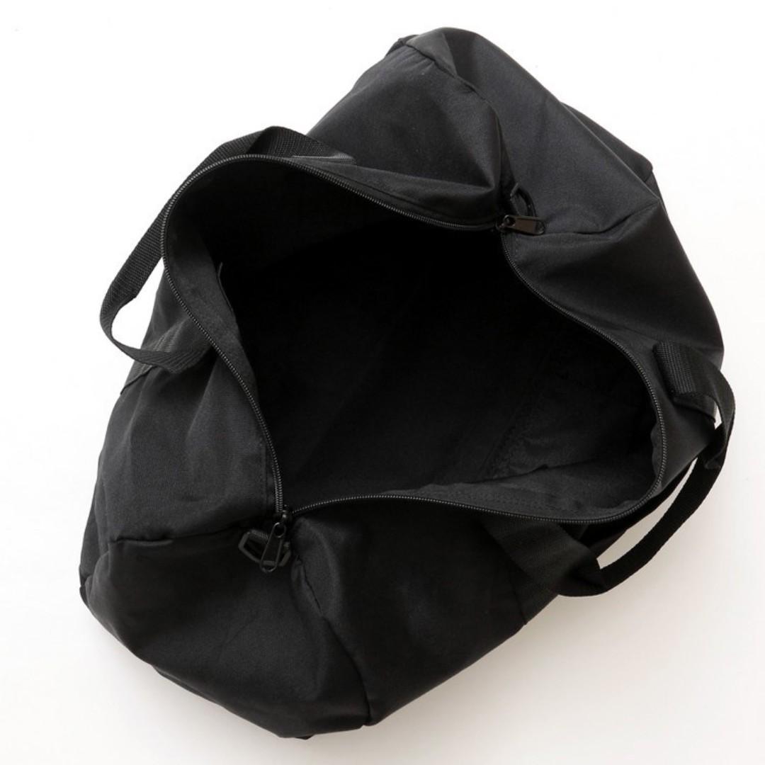 日版 Champion 黑色牛津布 中型 斜咩 運動旅行袋