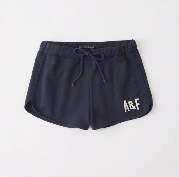 ddc04f57ffcd Abercrombie Cotton Running Shorts Navy Blue