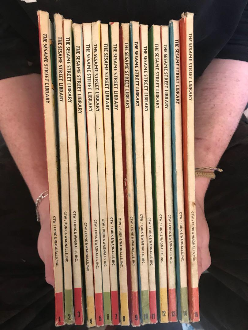 Antique The Sesame Street Library full 15 set collection