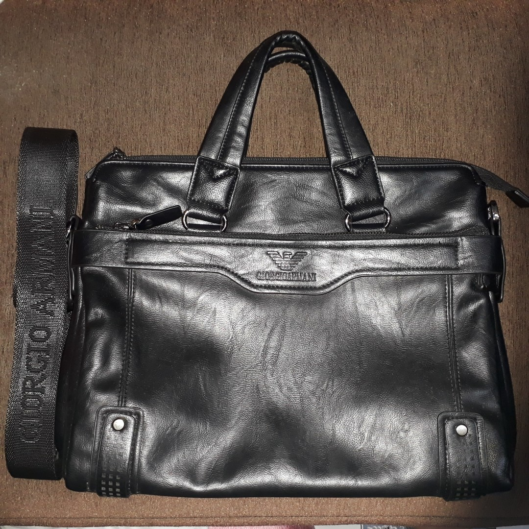 ARMANI Messenger Bag (BLACK) Replica f9394be7ee436