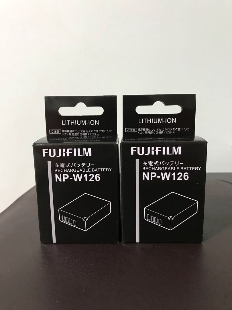 Bnib Fujifilm Np W126 Battery X T1 T2 T20 T10 Pro1 Pro2 Baterai Fuji For A3 E1 Pro 1 With Packing Photography Cameras Digital On Carousell