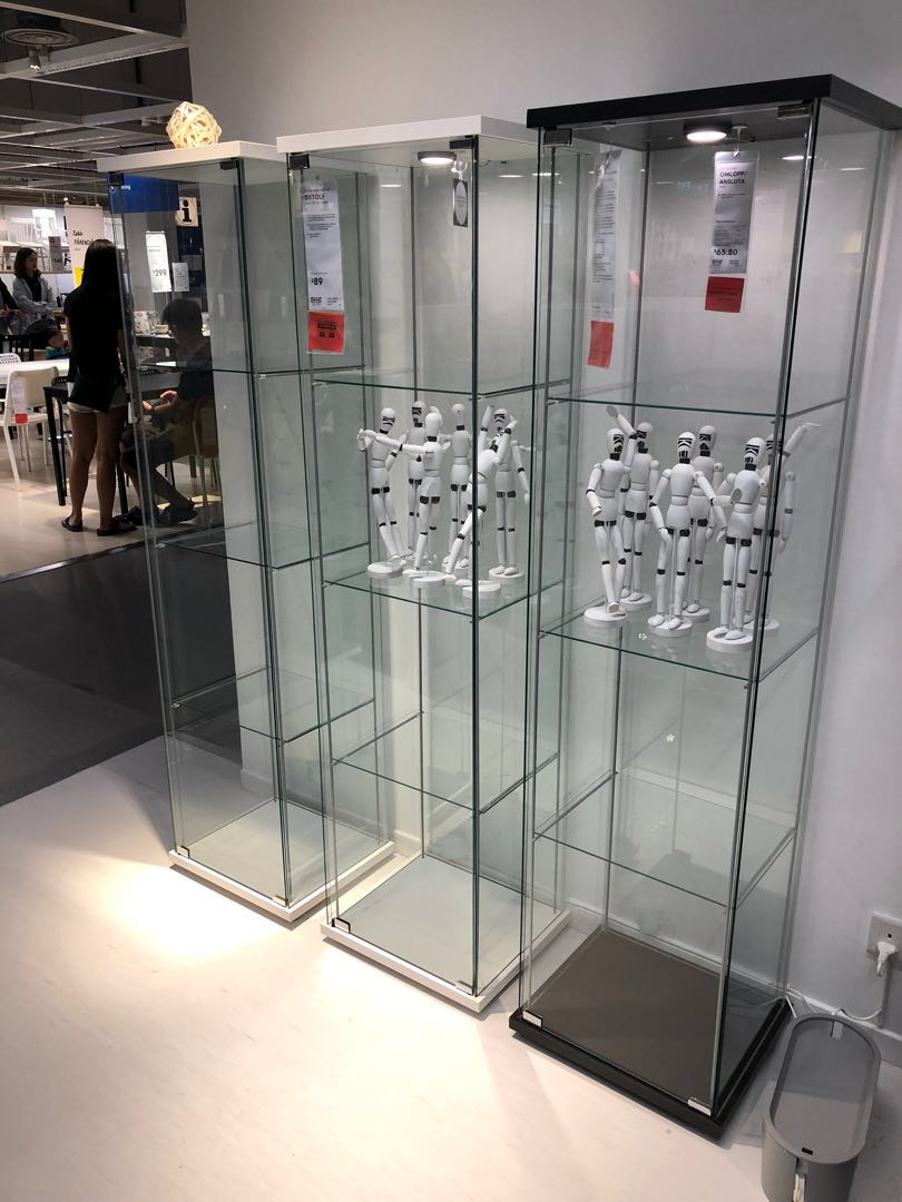 Brand New Ikea Detolf Gl Display Cabinet Furniture Shelves Drawers On Carou