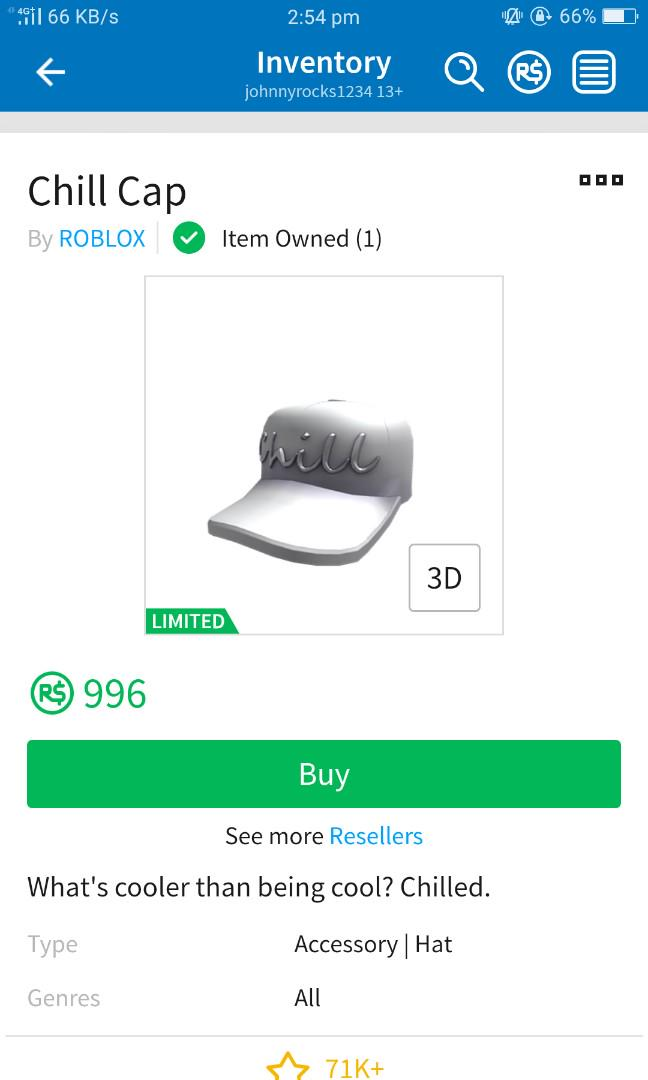 Roblox Chill Cap Toys Games Video Gaming In Game Products On
