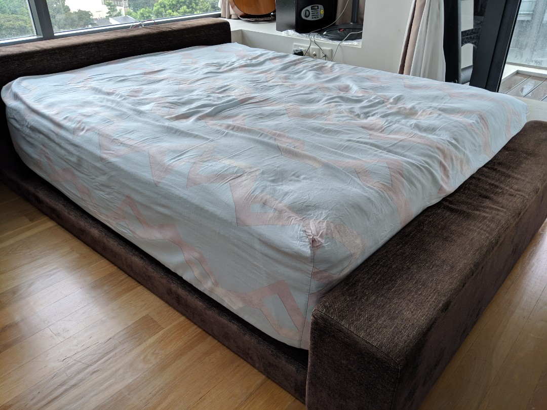 With Delivery Queen Size Bed With Double Pillow Top Furniture