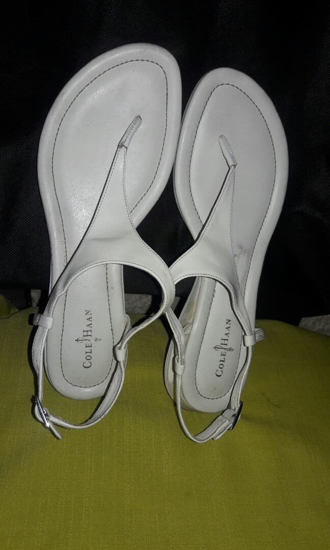 66833df21 Cole Haan Nike Air White Tong Flat Sandals