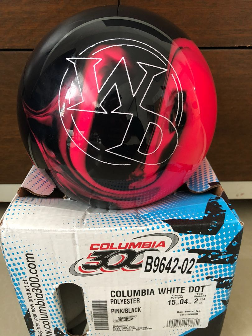 8c137db602cd6 Columbia 300 White Dot Spare Ball (Black & Pink) 15Pds, Sports ...