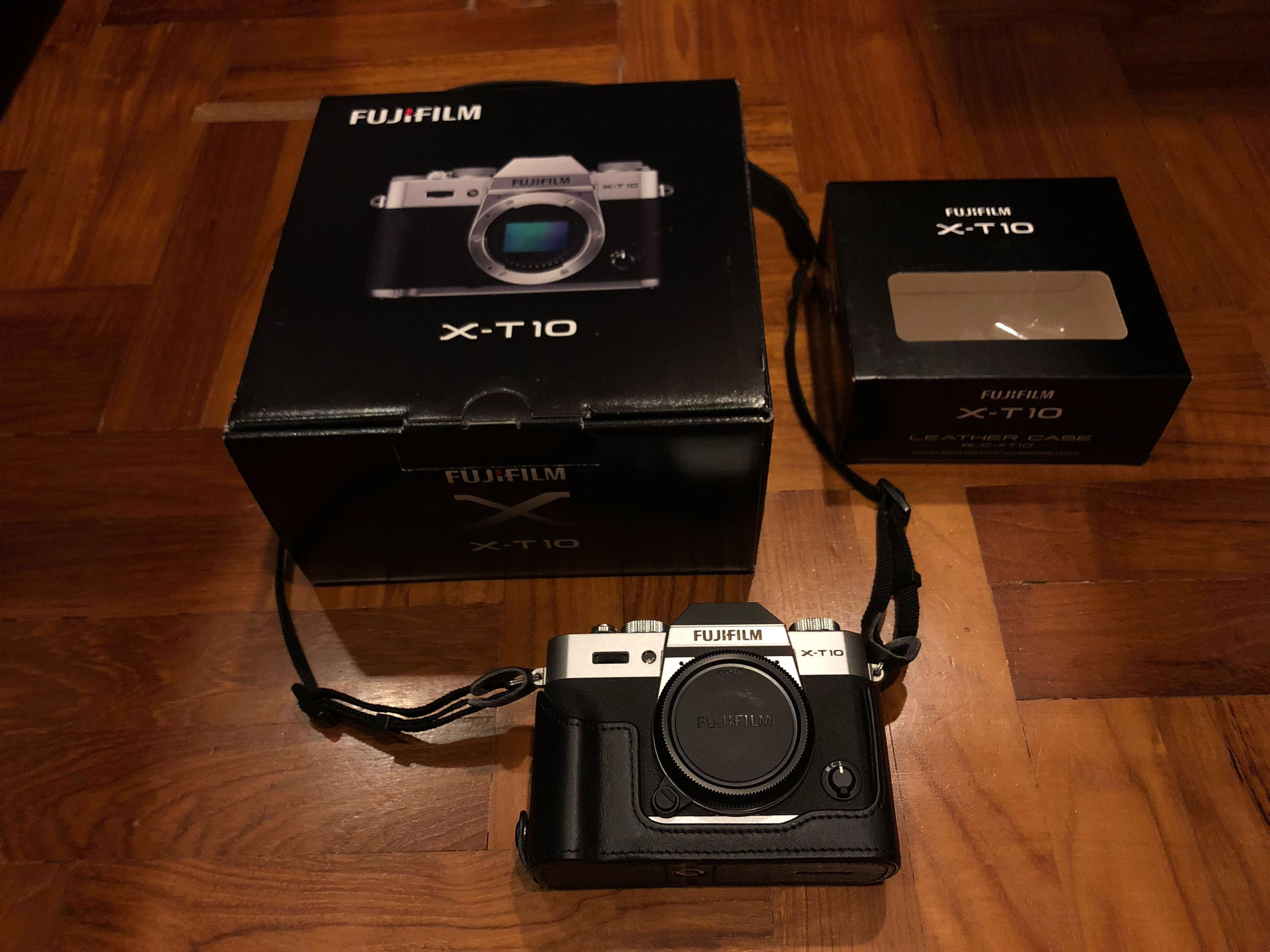 Fujifilm Silver X T10 Photography Cameras Mirrorless On Carousell T2 Kit Xf 18 55mm F 28 4 R Lm Ois Pwp 35mm 14