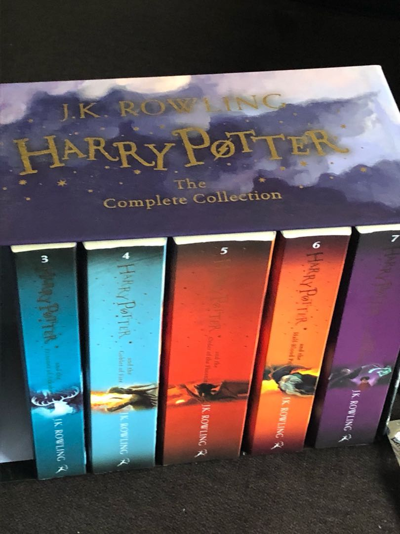 Harry Potter Full Set Of Books Books Stationery Fiction On Carousell