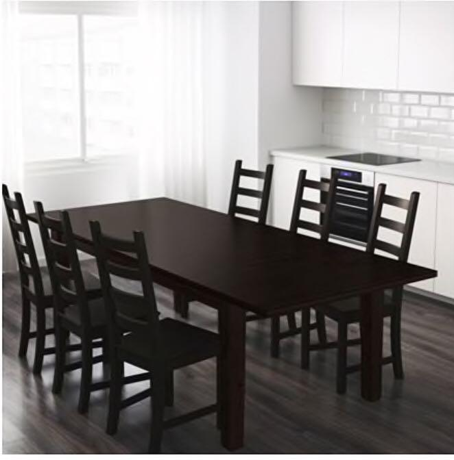 Ikea Stornas Extendable Dining Table Seats 6 8 People Furniture Tables Chairs On Carousell