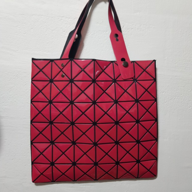Geometric Tote bag in Fuchsia 7f09b40c7ce1b