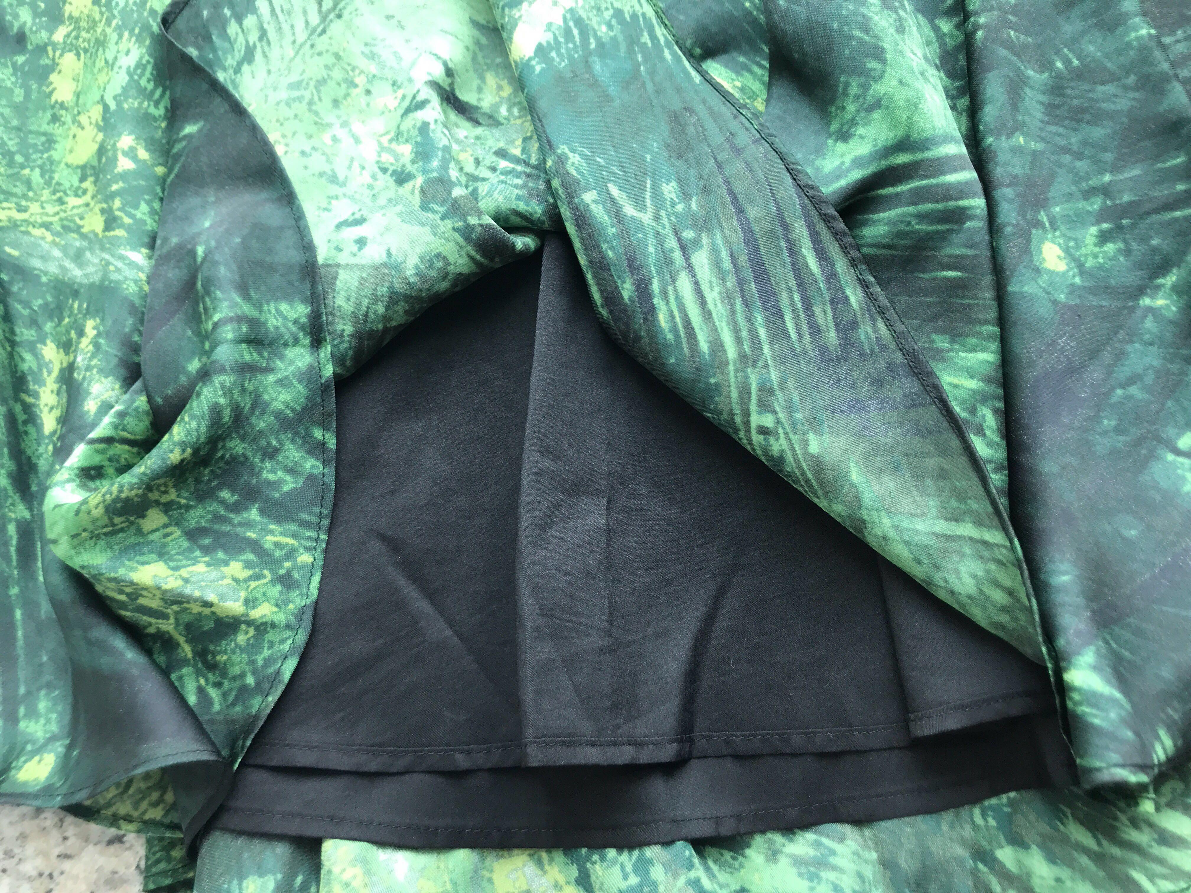 f951cf7a52d Karen Millen Tropical Palm Abstract Print Skirt, Women's Fashion ...