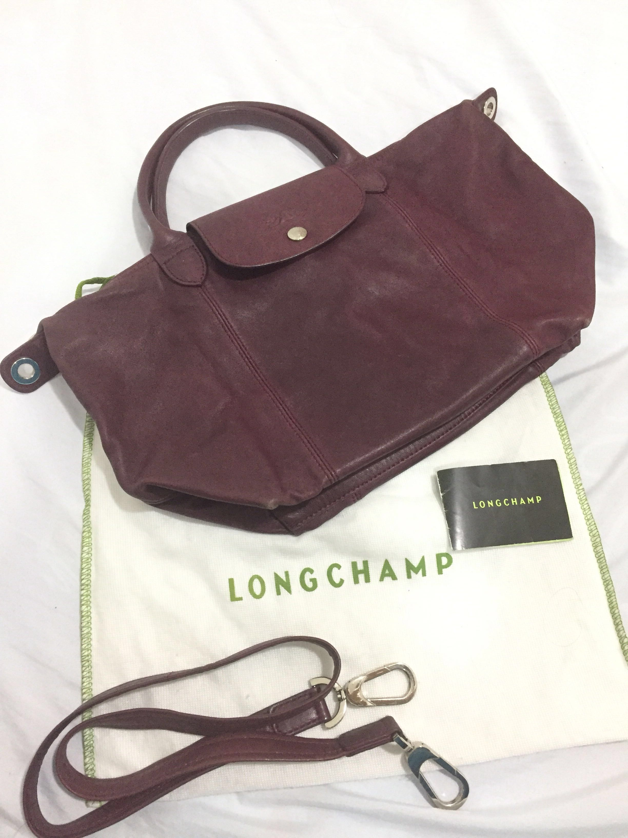20c658c86d Longchamp Le Pliage Cuir Small Top Handle in Burgundy, Women's ...