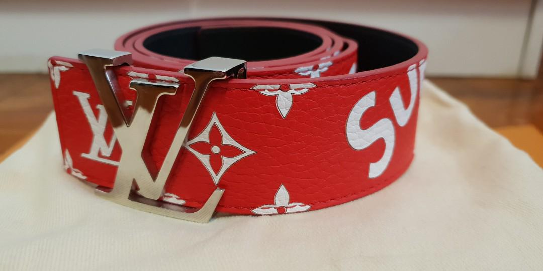 767784bc7db LV x Supreme Belt, Luxury, Accessories, Belts on Carousell