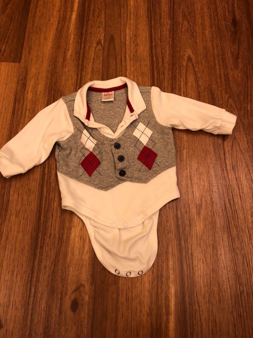ed83bde16 Miki Long Sleeved Baby Boy Romper (0-6 months)