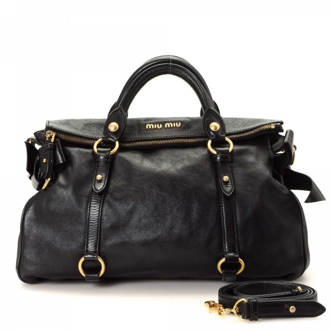 Miu Miu Black Bow Bag   Black and gold bag   Beautiful branded bag ... 12bd788eec9ca
