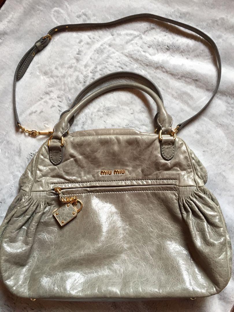 d90a380ae468 MIU MIU Vitello Bowler Bag