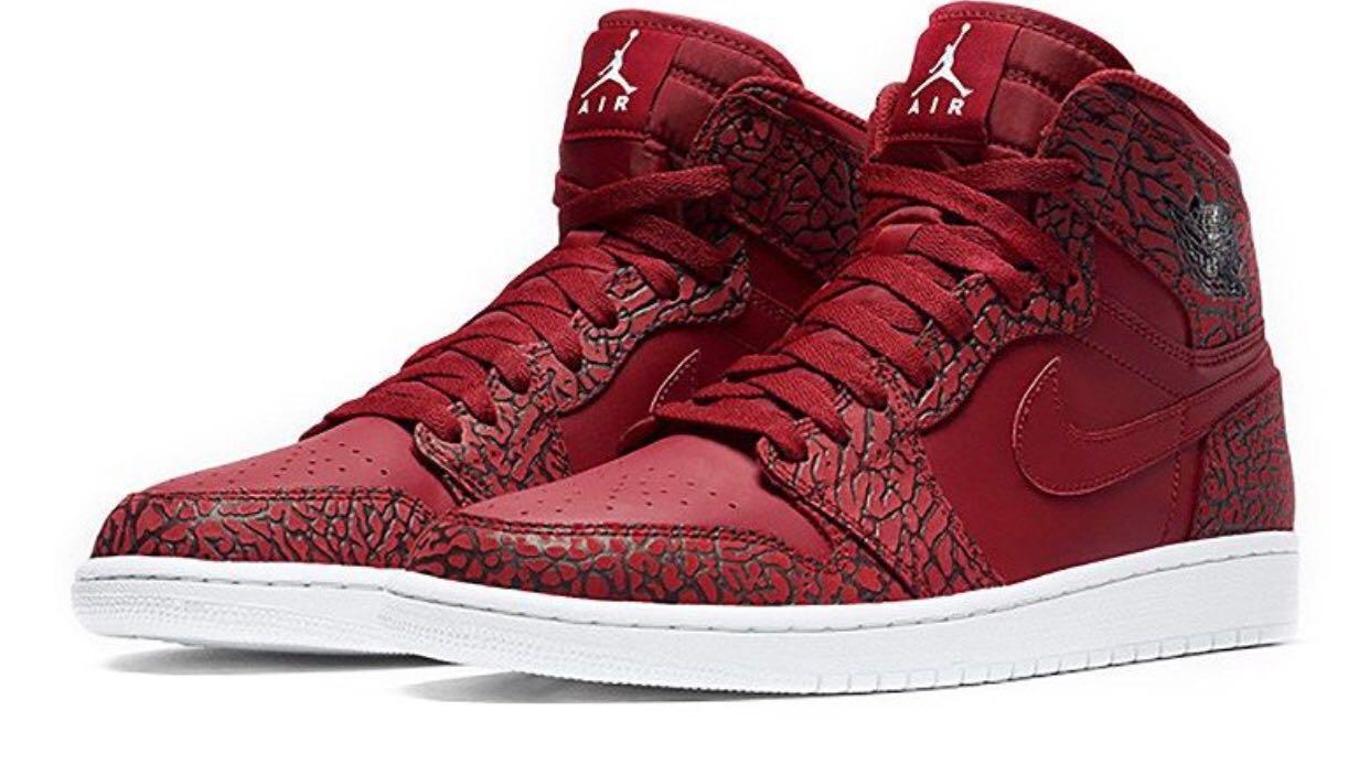 Red Fashion PrintMen's Air Retro Jordan High Nike Gym Elephant 1 c35jALq4R