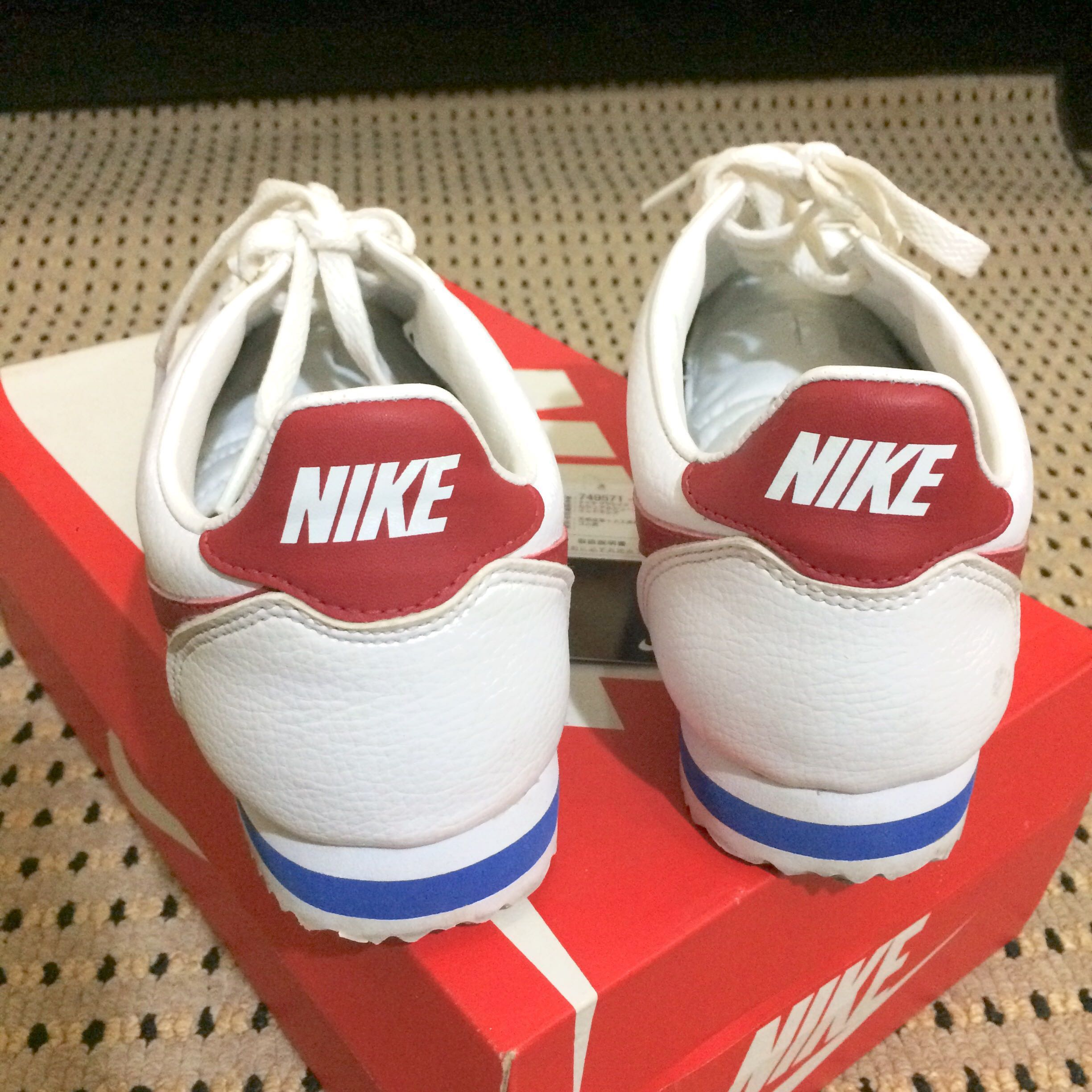 Nike Cortez Classic Leather Forrest Gump Size 43 Original Mens Fashion Footwear Sneakers On Carousell
