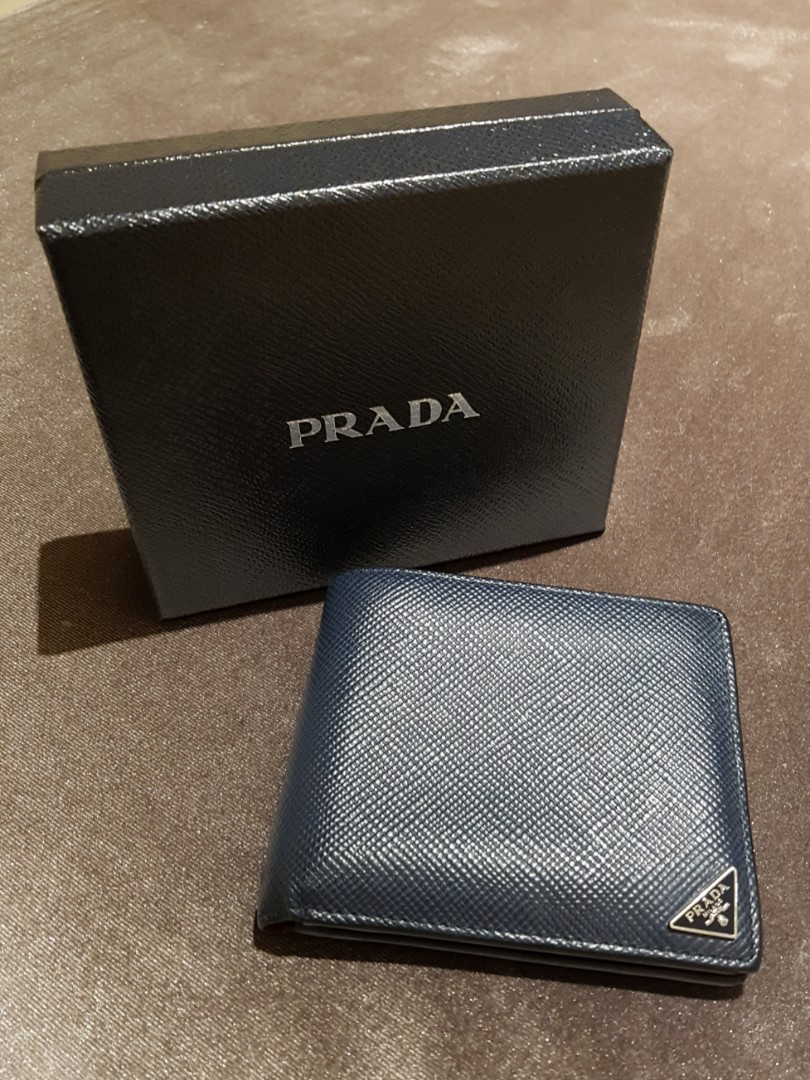 27a7cd2f low cost prada mens wallet saffiano leather 383d0 65b90
