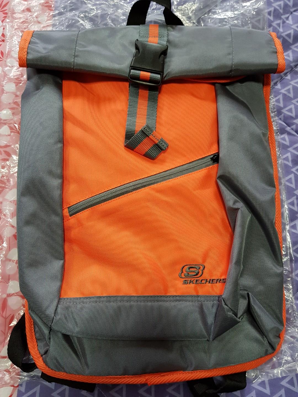 1fd31805f9 Skechers Backpack / Haversack (Orange Grey), Men's Fashion, Bags ...